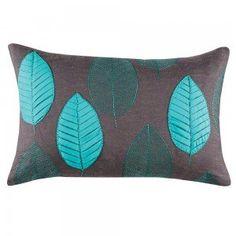 Dafny Leaf Teal Cushion