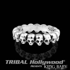 INFINITY+SKULL+RING+King+Baby+Mens+Sterling+Silver+Ring+Band