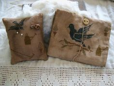 Primitive Cross Stitch Let's Play in the Dirt design by Stacy Nash Primitives