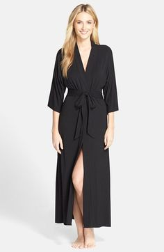 88.00 DKNY 'Urban Essentials' Long Robe available at #Nordstrom
