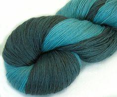 Hand dyed silk  superwash wool yarn thread crochet by Klarabela