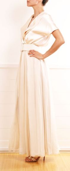 So elegant! I would wear this for a wedding dress, if it wasn't my first or if I were older.