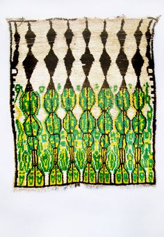 Carpet wool, hand-woven Morocco, Azilal, High Atlas L. 162 cm W. 142 cm ca. 1970 __ via Hans-Peter Jochum