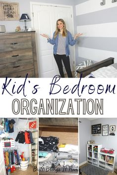 Join me in this video as I deep clean & organize one of my kids' bedrooms and share tips and motivation for you to do the same. Moms, get your kids involved in this one! I encourage you to teach your kids how to clean baseboards, how to fold clothes, and where to put their toys away. That way they can become more independent and can help keep their room clean and organized. Organizing Kids Books, Kids Bedroom Organization, Organizing Your Home, Organization Hacks, Organize Kids, Fold Clothes, Organized Mom, Baseboards, That Way