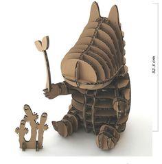 make your own moomin Cardboard Model, Cardboard Design, Cardboard Sculpture, Cardboard Paper, Cardboard Furniture, Cardboard Crafts, Paper Crafts, Origami, Recycled Art