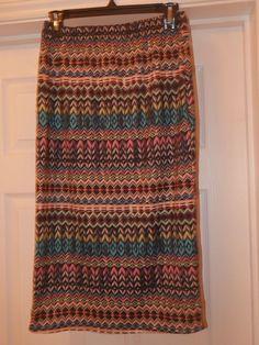 0417eca9d Retro Stretchy Skirt Size M/L Uk 12/14 Bold Pattern Bodycon #fashion