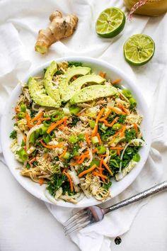 Asian Chicken Salad Recipe Asian Chicken Salads, Chicken Salad Recipes, Healthy Salad Recipes, Asian Salads, Chicken Treats, Asian Recipes, Ethnic Recipes, Dinner Salads, Fat Burning Foods