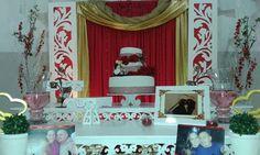decoração festa vermelho e dourado - Pesquisa Google