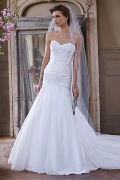 I am in LOVE with this one! Def trying this on when I go to davids bridal!   David's Bridal: Style WG3532