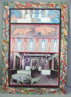 MOD 0055 ANONYME, ANNEES 1980, HUILE ET ACRYLIQUE SUR PANNEAU