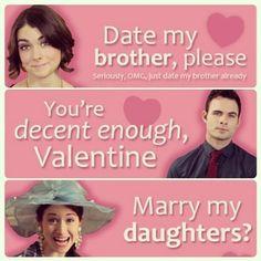 Lizzie bennet diaries valentines!!!