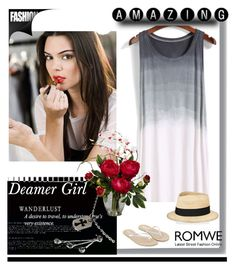 """""""Romwe"""" by lugavicamina ❤ liked on Polyvore featuring Estée Lauder, Eugenia Kim, Monsoon, Chrome Hearts and Nearly Natural"""
