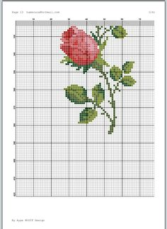 Cross Stitch Rose, Cross Stitch Flowers, Modern Cross Stitch, Cross Stitch Designs, Cross Stitch Patterns, Hardanger Embroidery, Embroidery Hoop Art, Embroidery Stitches, Baby Dress Patterns