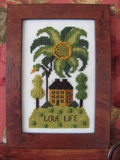 Love Life Counted Cross Stitch Chart