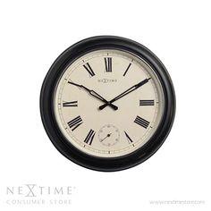 Black Waterloo Wall Clock Control Brand Wall Mounted Clock Clocks Home Decor