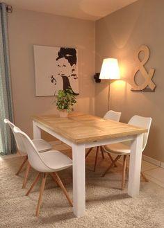 DIY : table de salle à manger en palette - Le blog de Béa