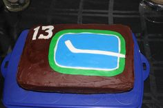 Vancouver Canucks Vancouver Canucks, Cakes, Desserts, Food, Tailgate Desserts, Deserts, Cake Makers, Kuchen, Essen