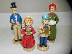 Christmas Carolers Hand Painted Collectible by baublesandblingforu, $8.00