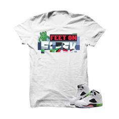"Feet On Fleek Pro Star 5s White T Shirt. The Feet On Fleek Pro Star 5s White T Shirt is a premium quality sneakerhead t shirt. It matches with the Air Jordan 5 Retro ""Pro Star"" Sneakers. *************************************************************** FOLLOW US ON INSTAGRAM: @illCurrency FOLLOW US ON TWITTER: @ill_Currency LIKE US ON FACEBOOK: facebook.com/illcurrency FOLLOW US ON PINTREST: pinterest.com/illcurrency"