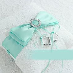 Tiffany Blue Wedding Favor Heart Shaped Gift Ring Box Pillow