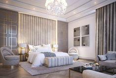 Modern Classic Bedroom, Classic Bedroom Furniture, Modern Luxury Bedroom, Luxury Bedroom Design, Master Bedroom Interior, Modern Master Bedroom, Luxury Rooms, Room Design Bedroom, Luxurious Bedrooms