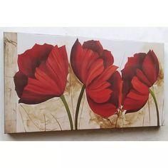 Telas, Quadros Decorativos De Flores - R$ 369,00 Elegant Christmas, Pictures To Paint, Beautiful Paintings, Red Flowers, Cute Art, Flower Art, Landscape Paintings, Canvas Wall Art, Poppies