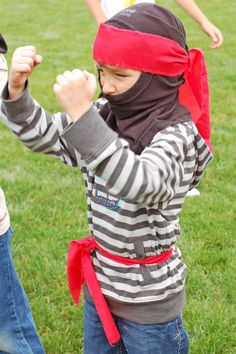 Ninja Costume - I think I just found inspiration for the next birthday party!
