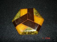 Multi color Deco Bakelite Shank Button
