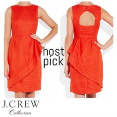 ❤️HP J.crew Red Cha Cha Ruffle Linen Dress Sz 2 GORGEOUS dress from J. Crew Collection.                   💃🏻Material: 100% Linen 💃🏻Color: Red 💃🏻Size: 2 // Condition: LIKE NEW 💃🏻Perfect for work or leisure! Gives you such a confident posture!! Love this dress!! 💃🏻SOLD OUT everywhere!! ENJOY! :)) 💃🏻I ship same-day from a pet/smoke free home. Professional photos from Lyst. J. Crew Dresses Midi