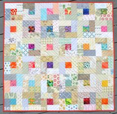 """I'm not sure what's gotten into me. I finished another quilt today. OK, it's a small one, only 36"""" square, but I just started it on Monda..."""