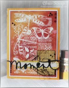 """Carte """"Moment"""" par Chris' scrap pour CARABELLE STUDIO"""