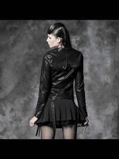 Black Long Sleeve Punk Rave Jacket for Women
