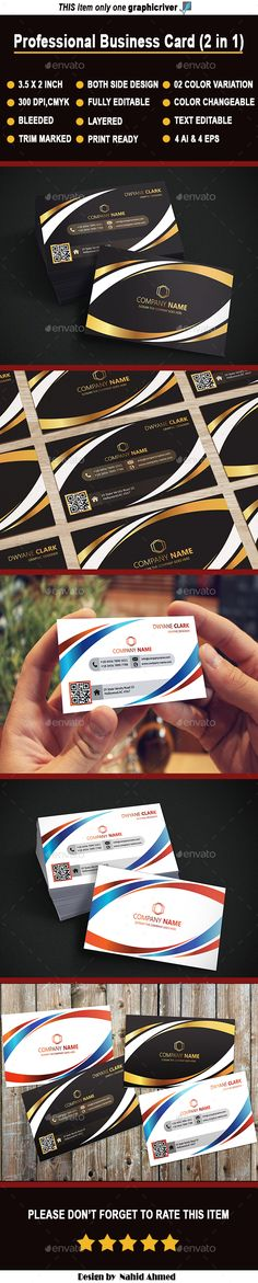 Im mukesh themukeshpandit on pinterest professional business card design template 2 in 1 business cards template vector eps reheart Gallery