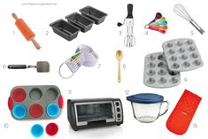 Montessori Home -- our children's baking essentials. Tools to help independent baking. What Is Montessori, Montessori Practical Life, Montessori Preschool, Preschool Activities, Baking Appliances, Childrens Baking, Auction Baskets, Baking With Kids, Baking Tools