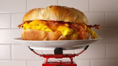 Love bacon egg and cheese sandwiches? This Giant Breakfast Sandwich is the best. What's For Breakfast, Breakfast Dishes, Breakfast Casserole, Mexican Breakfast, Breakfast Pizza, Breakfast Sandwich Recipes, Brunch Recipes, Bagel Sandwich, Top Recipes