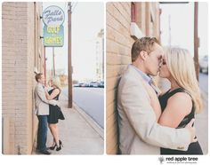 red apple tree photography: Neely + Thomas Engagement, downtown Greenville SC