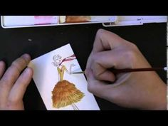 VIDEO TUTORIAL: watercoloring Penny Black fashion girl stamps and dies