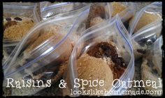 Homemade Raisins & Spice Instant Oatmeal