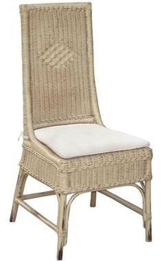 Country Conservatory Dining Chair - Handcrafted from solid premium mahogany. - Shown in wheat berry heavy distressed finish. - Includes cushion. - Item # BR-44542 - 50+ color, fabric & art options.
