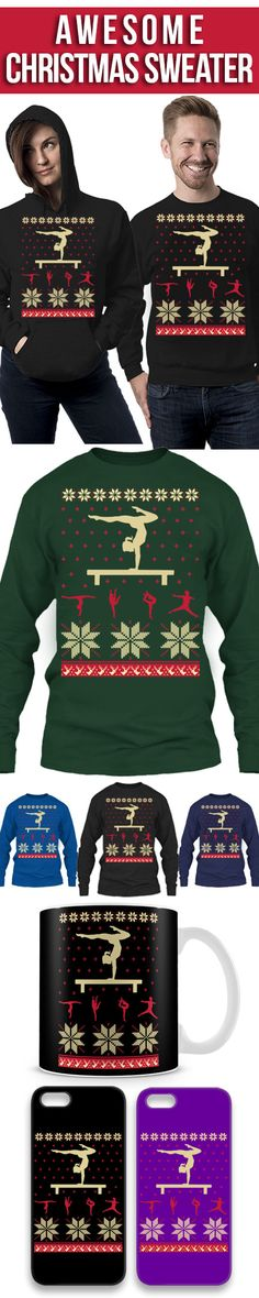 Gymnastics Ugly Christmas Sweater! Click The Image To Buy It Now or Tag Someone You Want To Buy This For. #gymnastics
