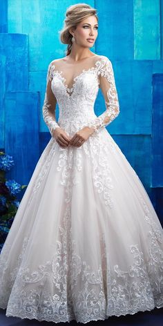 Romantic and regal, this ballgown is an elegant homage to the wedding gowns Allure Bridals dreamed about as little girls.