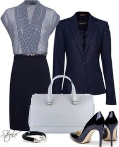I love this for work. Structured but still really feminine.