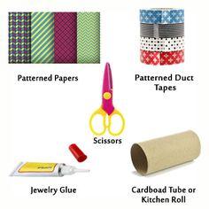 cardboard duct tape bracelet supplies