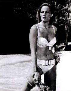 Raquel Welch, white bikini, 1960s | Vintage Raquel Welch ...