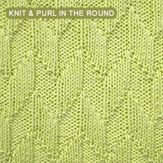 [Knitting in the round] Alternating Diagonal knit stitch