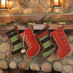 Knit Whit  Recycling is frugal and fashionable. Worn sweaters and outerwear find new purpose when decorated as one-of-a-kind stockings.