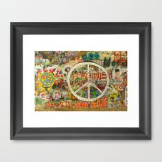 All You Need is Love - The Beatles - Imagine - John Lennon - Peace Sign Framed Art Print by Tara Holland  - $42.00