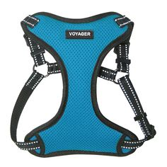 Best Pet Supplies Voyager – Fully Adjustable Step-In Mesh Harness with Reflective Piping (Turquoise, Large). Get the ideal fit: our completely customizable pet Harness enables you to change it to suit your pup's remarkable shape and keep any chaffing. Medium Dogs, Cat Collars, Dog Harness, Shades Of Black, Dog Supplies, Small Dogs, Baby Blue, Royal Blue, Pup
