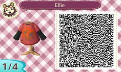 Ellie from The Last of Us QR Code #animalcrossing #acnl