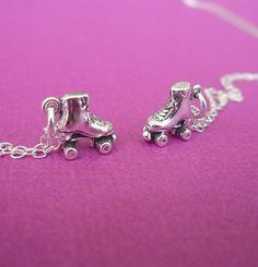 sterling roller skate necklace by cravejewelrydesign on Etsy, $24.00